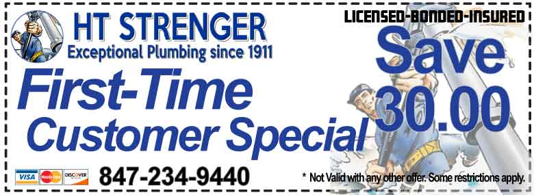First Time HT STRENGER Customer - HT Strenger Plumbing Coupons Specials Coupons
