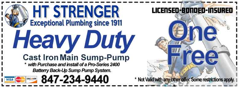 Save on Sump Pump Replacement Coupons - HT Strenger Plumbing Coupons Specials Coupons