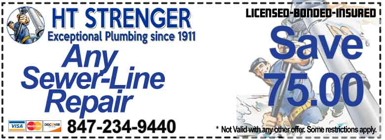 Save On Sewer Line Repairs and Replacement - HT Strenger Plumbing Coupons  Specials Coupons