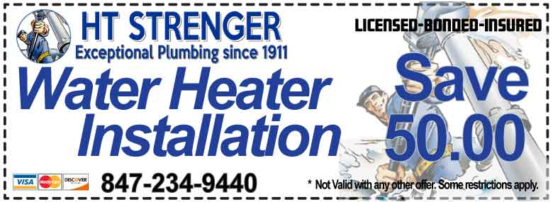 Save on Water Heater Replacements & Installations - HT STRENGER COUPONS - HT Strenger Plumbing Coupons Specials Coupons
